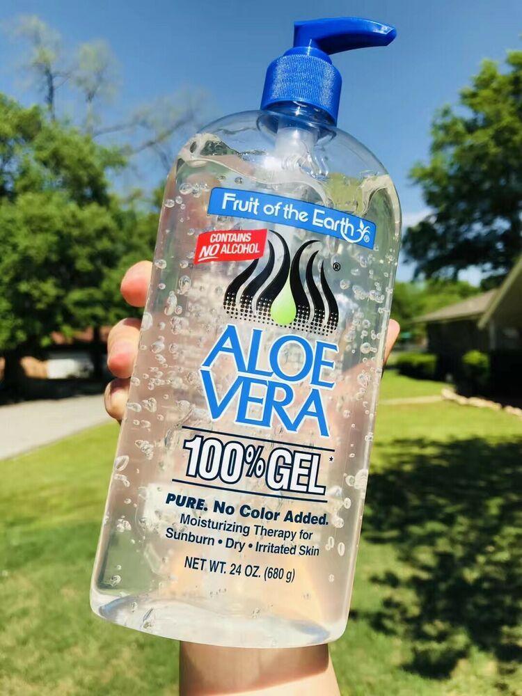 Fruit Of The Earth Aloe Vera 24oz Gel Pump New Skin Care Moisturizer Aloe Vera Dry Irritated Skin