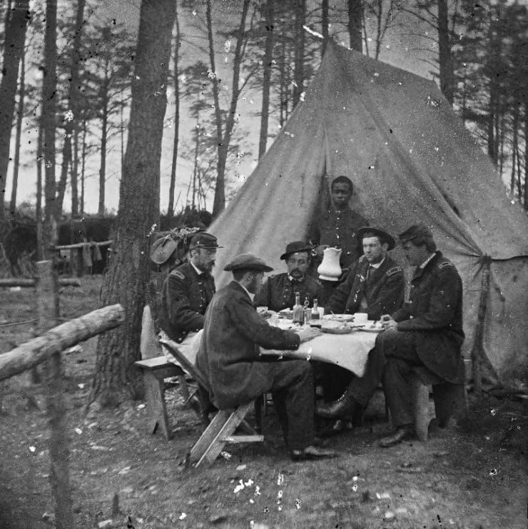 Dinner Party Outside Tent, Army Of The Potomac
