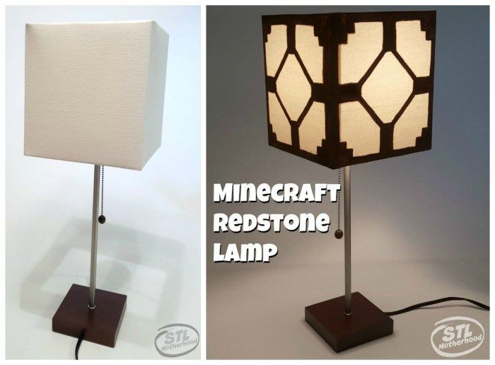 Real for RoomMinecraft Redstone your Kid's Lamp Minecraft 7f6vIgyYb