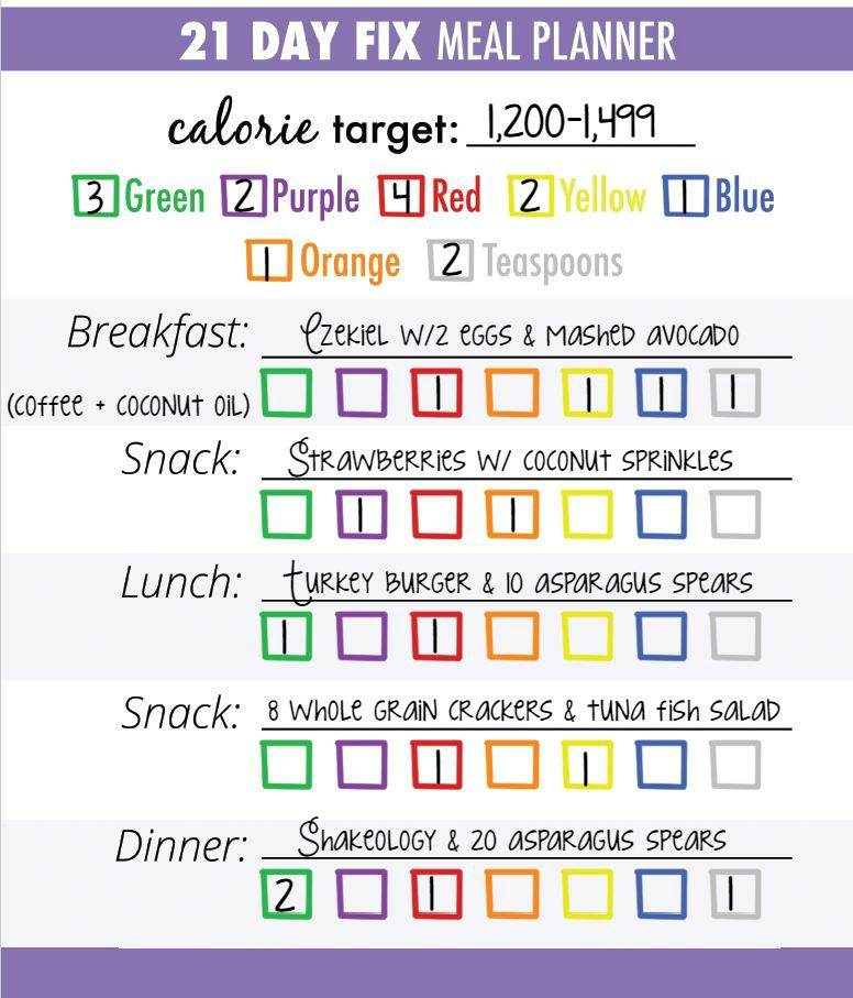 sample meal plan for 1200 1499 calorie bracket of the 21 day fix wwwlisagennaecom