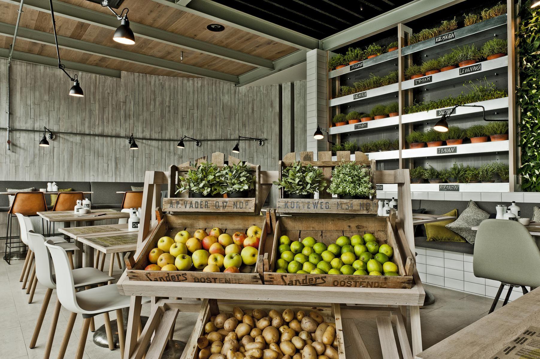 Eco cafe mercado bratislava green interior design