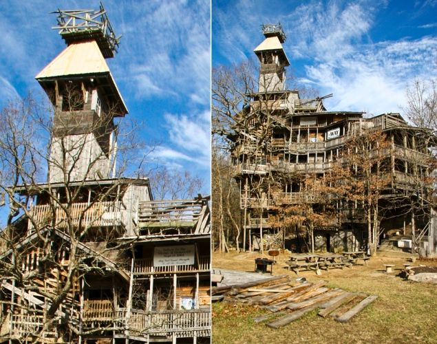 Biggest Treehouse In The World Inside biggest treehouse in the world, tennessee - photos - world's