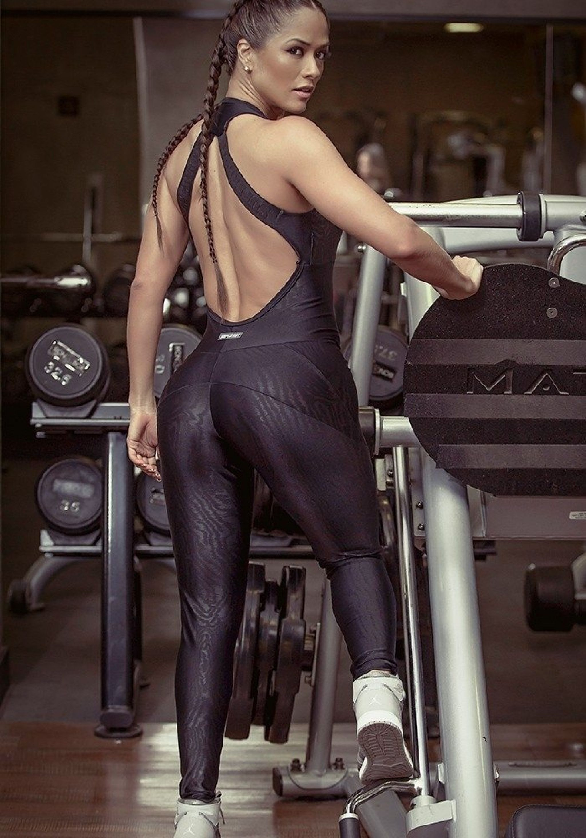 3ab648297bc3 SUPERHOT Sexy Workout Leggings Jumpsuit Romper MAC633