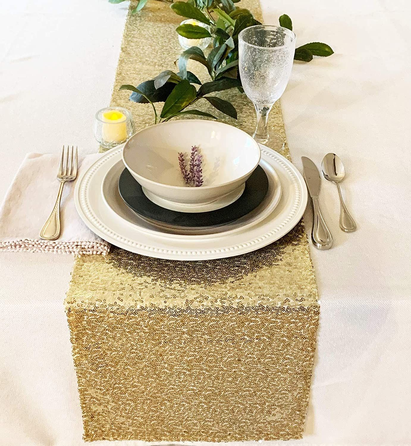 Gold Sequin Table Runners Set Of 10 Gold Table Runners Sequin Table Runner Gold Sequin Table Runner