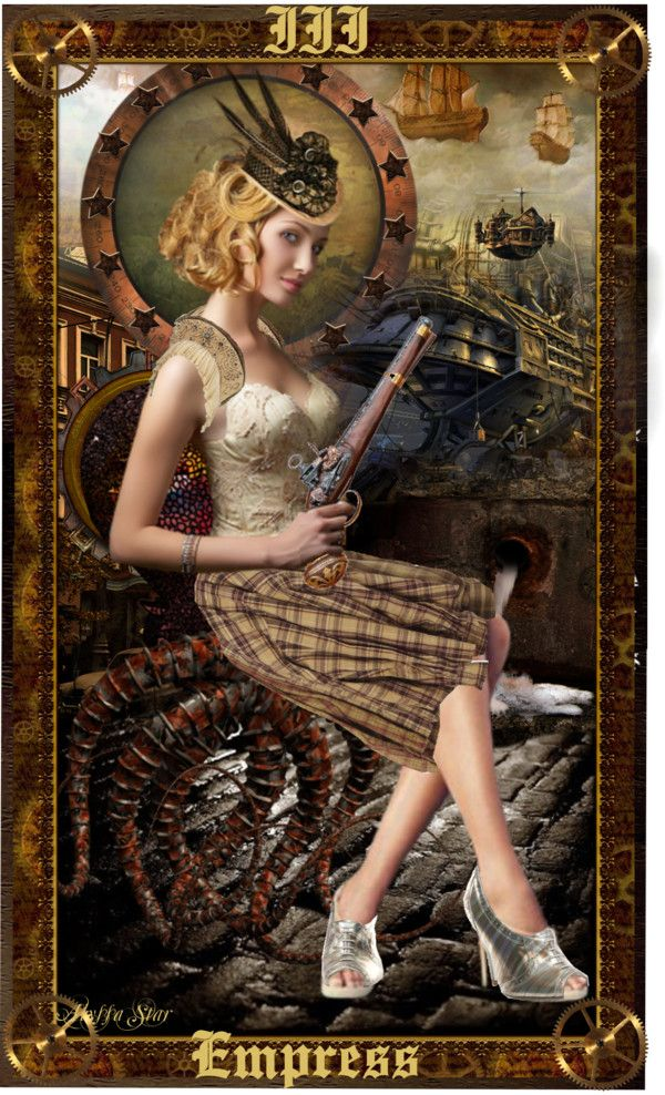 """""""Steampunk Tarot: The Empress"""" by alyssastar ❤ liked on Polyvore"""