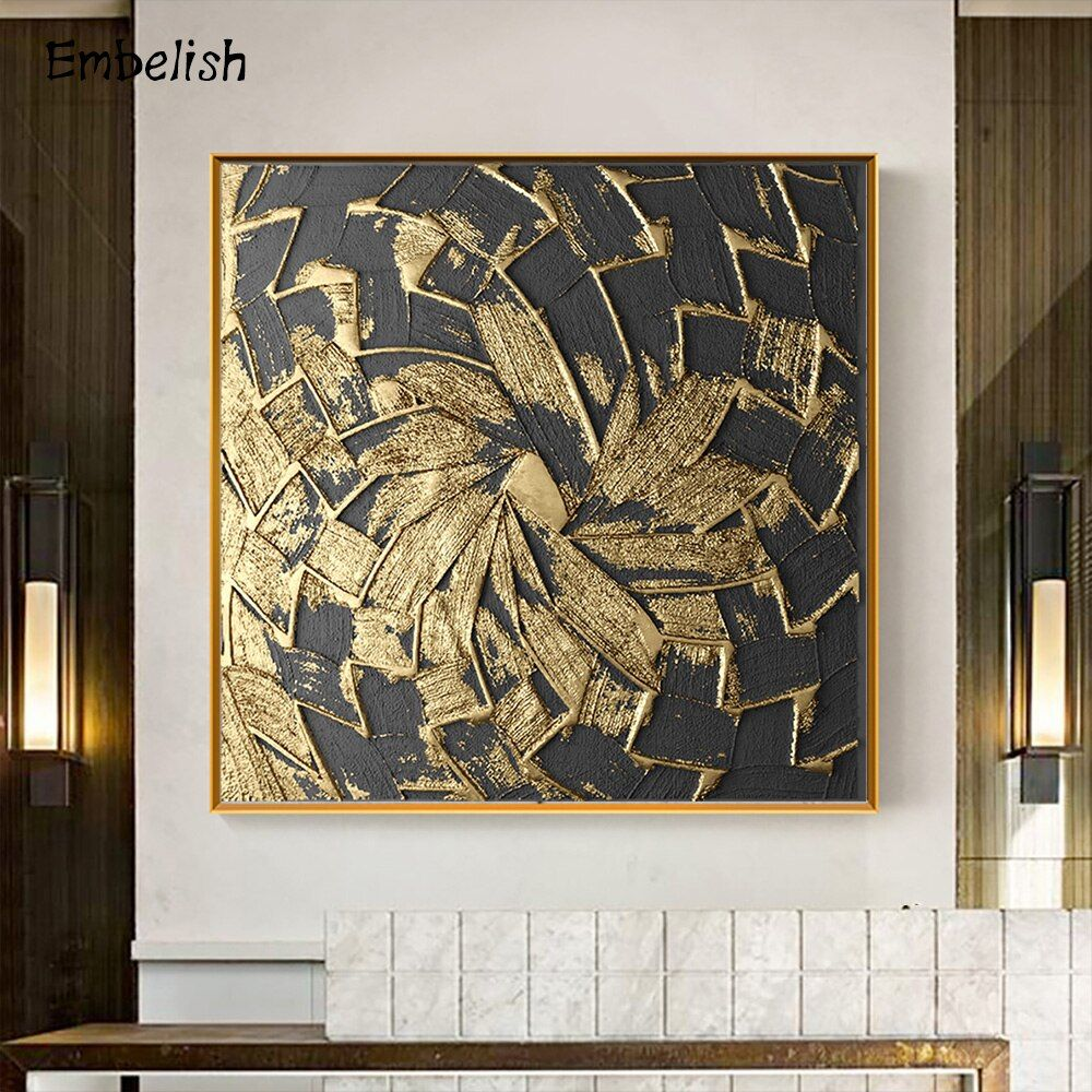 1 Pieces Fashion Wall Art Large Posters For Living Room Golden Leaves Paints Pictures Hd Print On Canvas Paintings Home Decor Fashion Wall Art Canvas Wall Art Canvas Prints