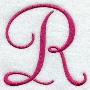 Fancy Flourish Capital Letter R