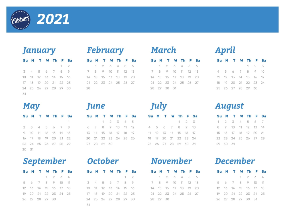 Pillsbury Recipe Calendars   2020 [17] | Calendar 2020, Holiday
