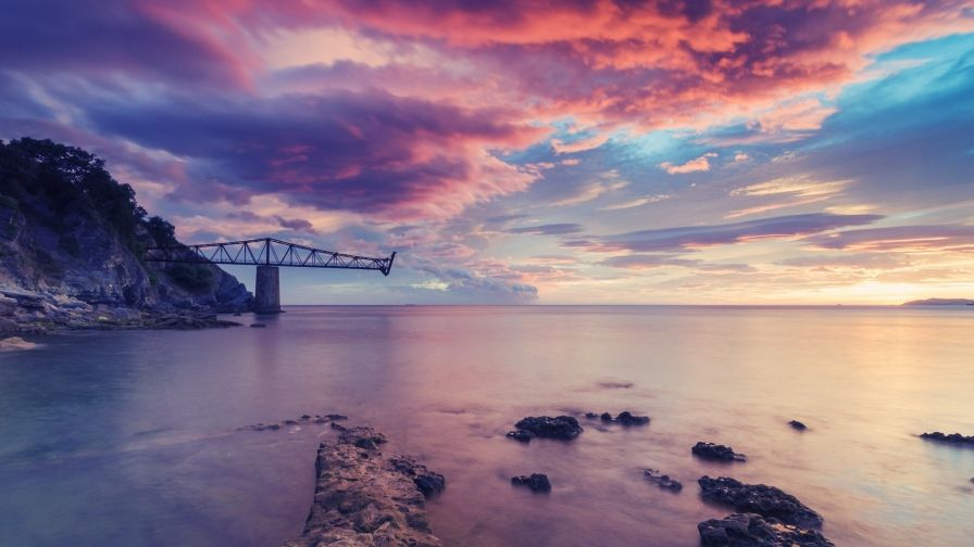 Beautiful Atlantic Ocean Sunset Wallpaper Free Download High Resolution Size Sunset Wallpaper Ocean Sunset Sunset