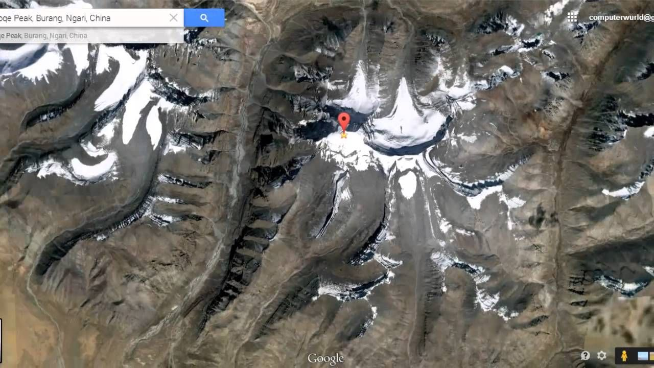 Lord Shiva S Mount Kailash View From Satellite Map In