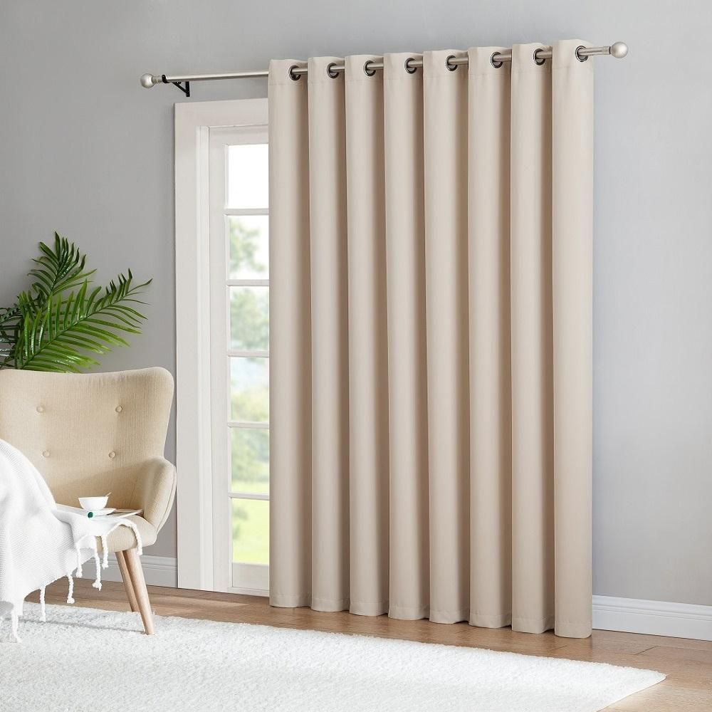 Warm Home Designs Extra Wide Ivory Patio Door Curtains Wall To Wall Room Dividers Patio Door Curtains Living Room Sliding Doors Sliding Door Curtains