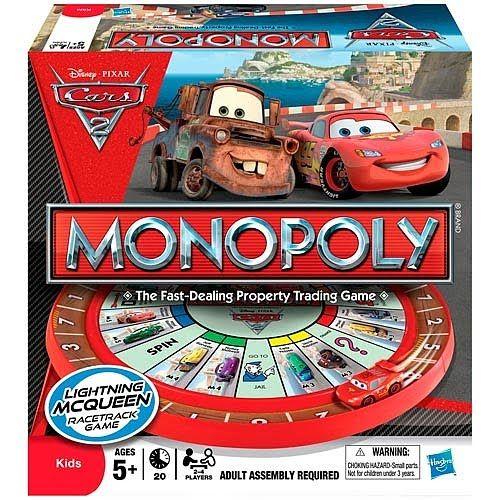 Hasbro Monopoly De Cars Juegos De Mesa Y De Tablero Versiones