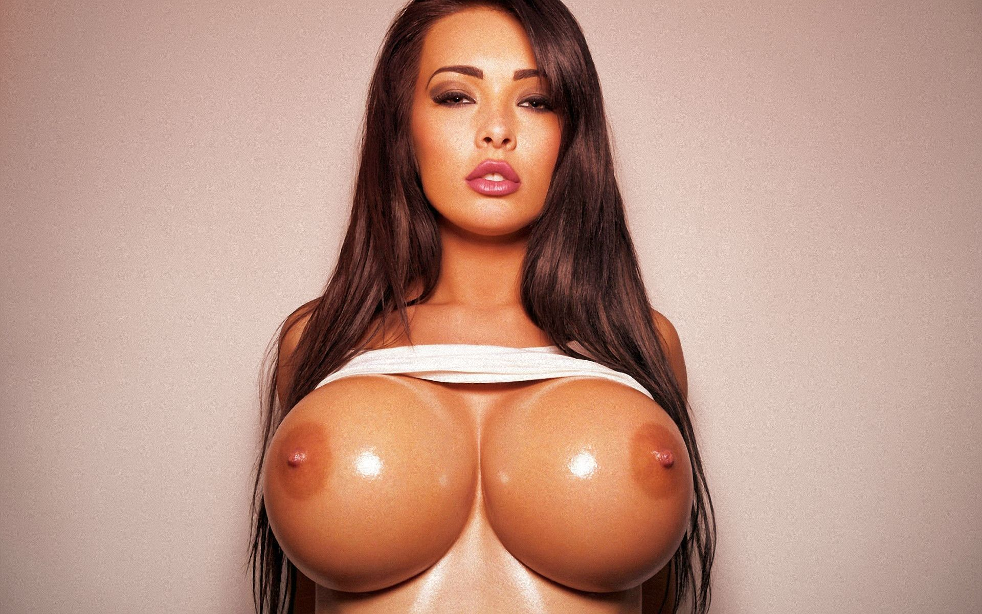 Perfect big fake tits