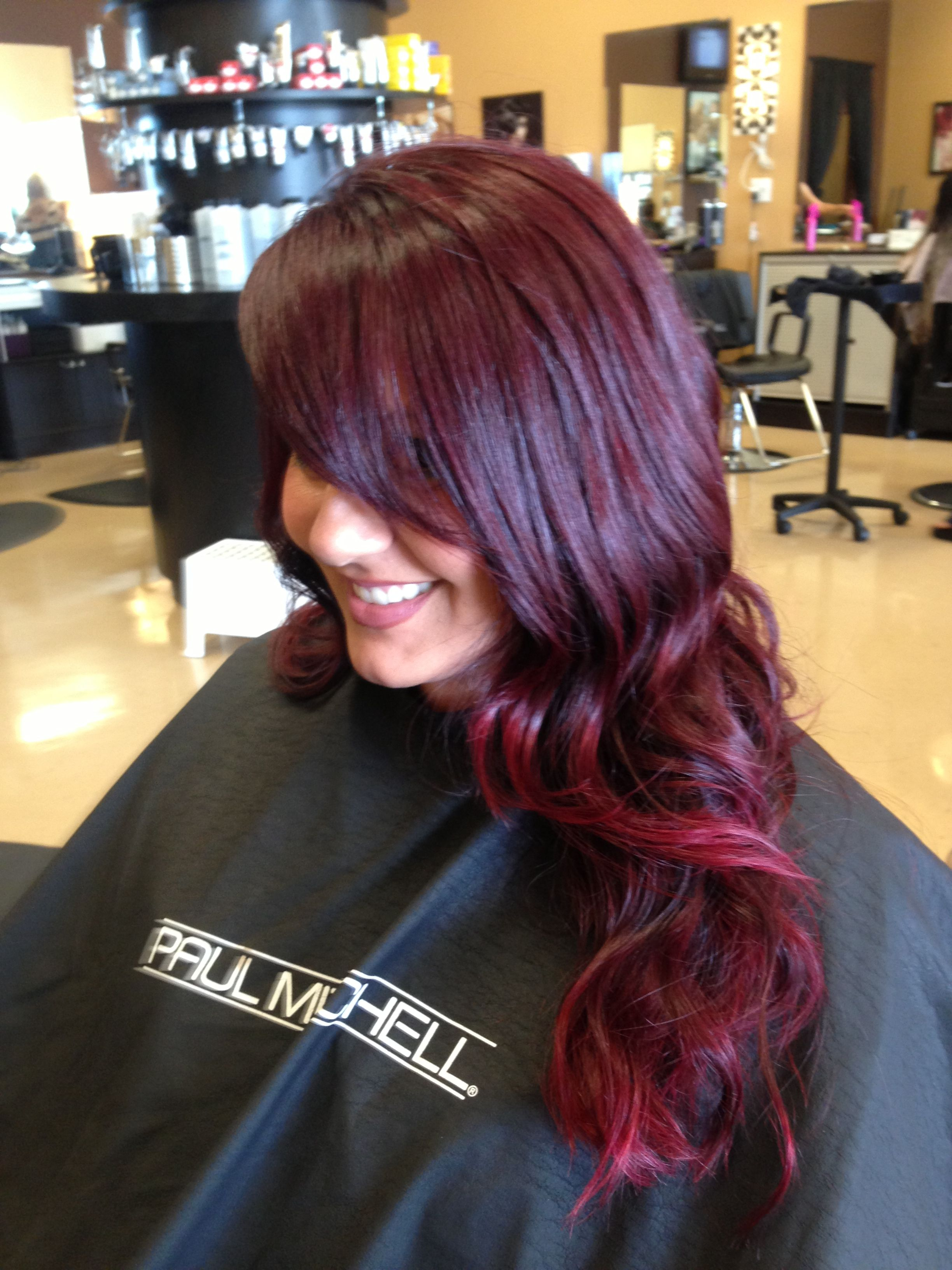 Red Ombr With Paul Mitchell The Color And Inkworks