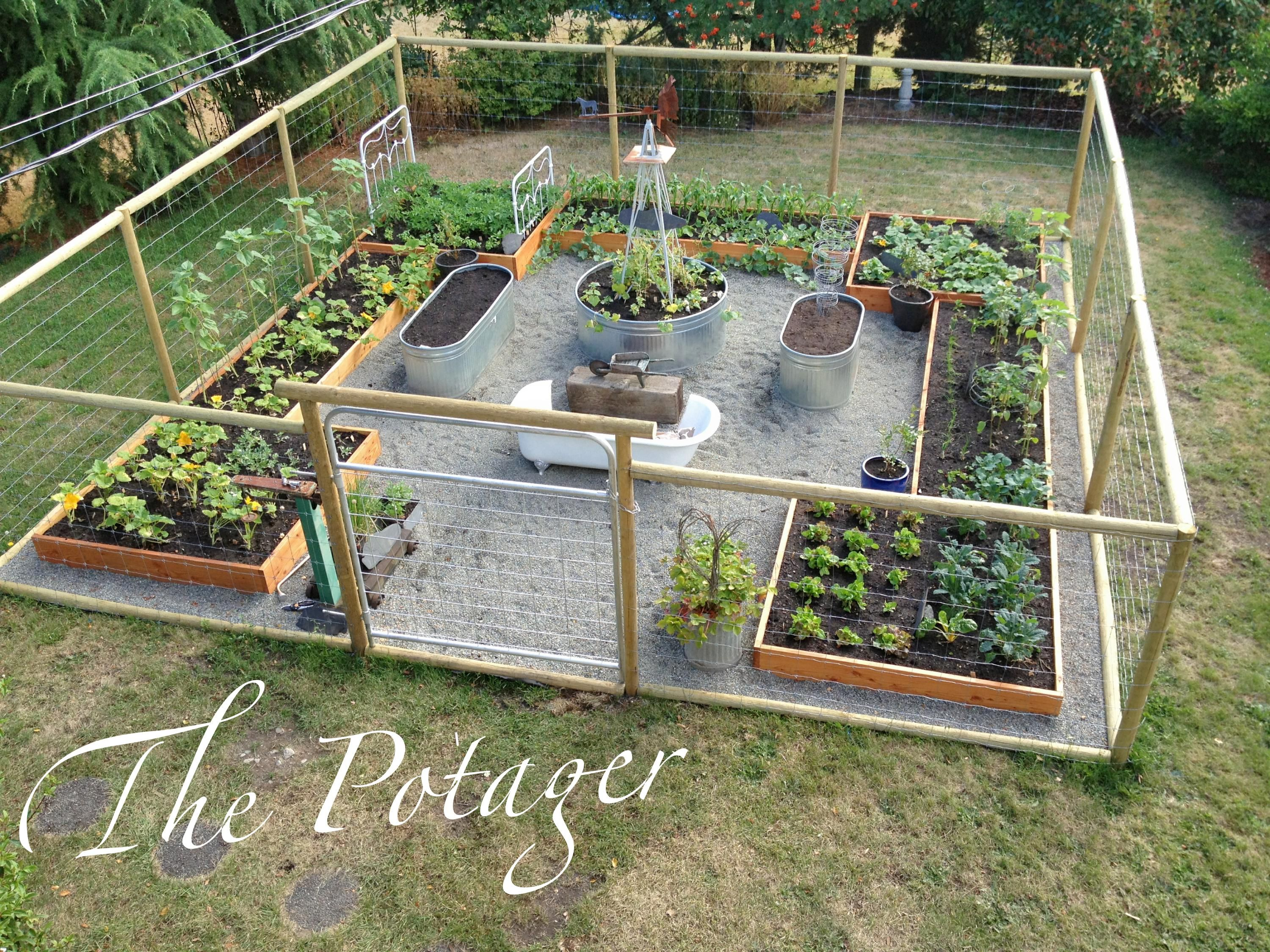 Vegetable garden deer fence ideas - House And Bloom From Grass To Garden Presenting The Potager