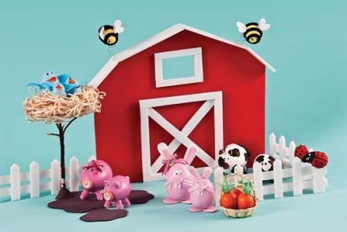 Animales de granja con foami - Imagui