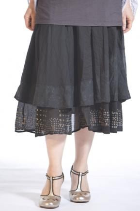 Enchanting Voile Skirt Printed : Blue Fish Clothing. I think I could make this if I could find the great fabric