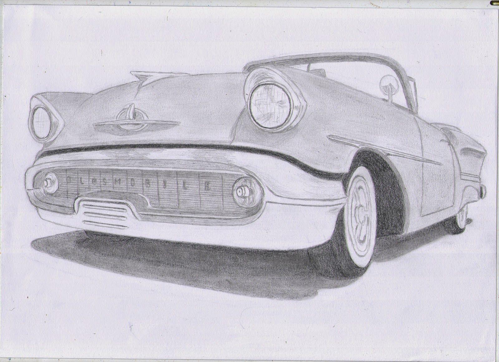 Classic Car Drawings: 1957 Oldsmobile Starfire 98