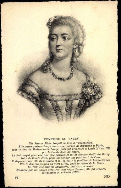 Künstler Ak Comtesse du Barry, Nee Jeanne Becu, Naquit en 1743 (b/w photo) by German Photographer