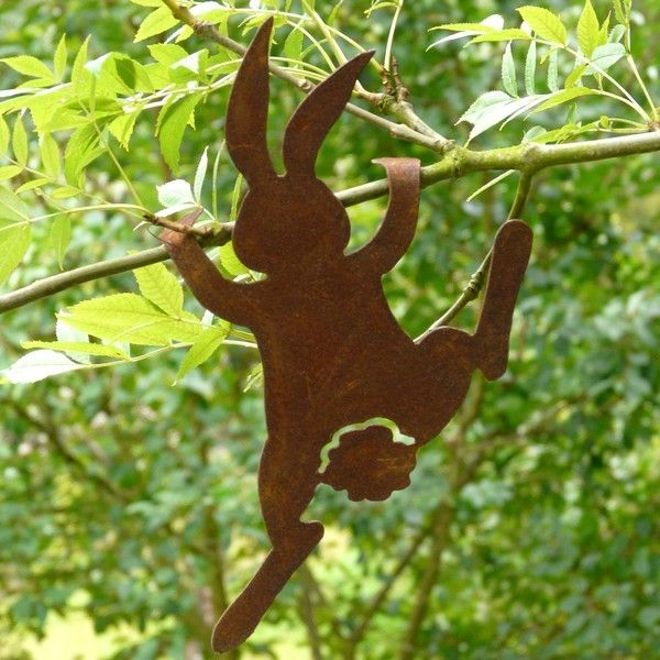 Lapin d co jardin jardin pinterest d co jardin Decoration de jardin en metal