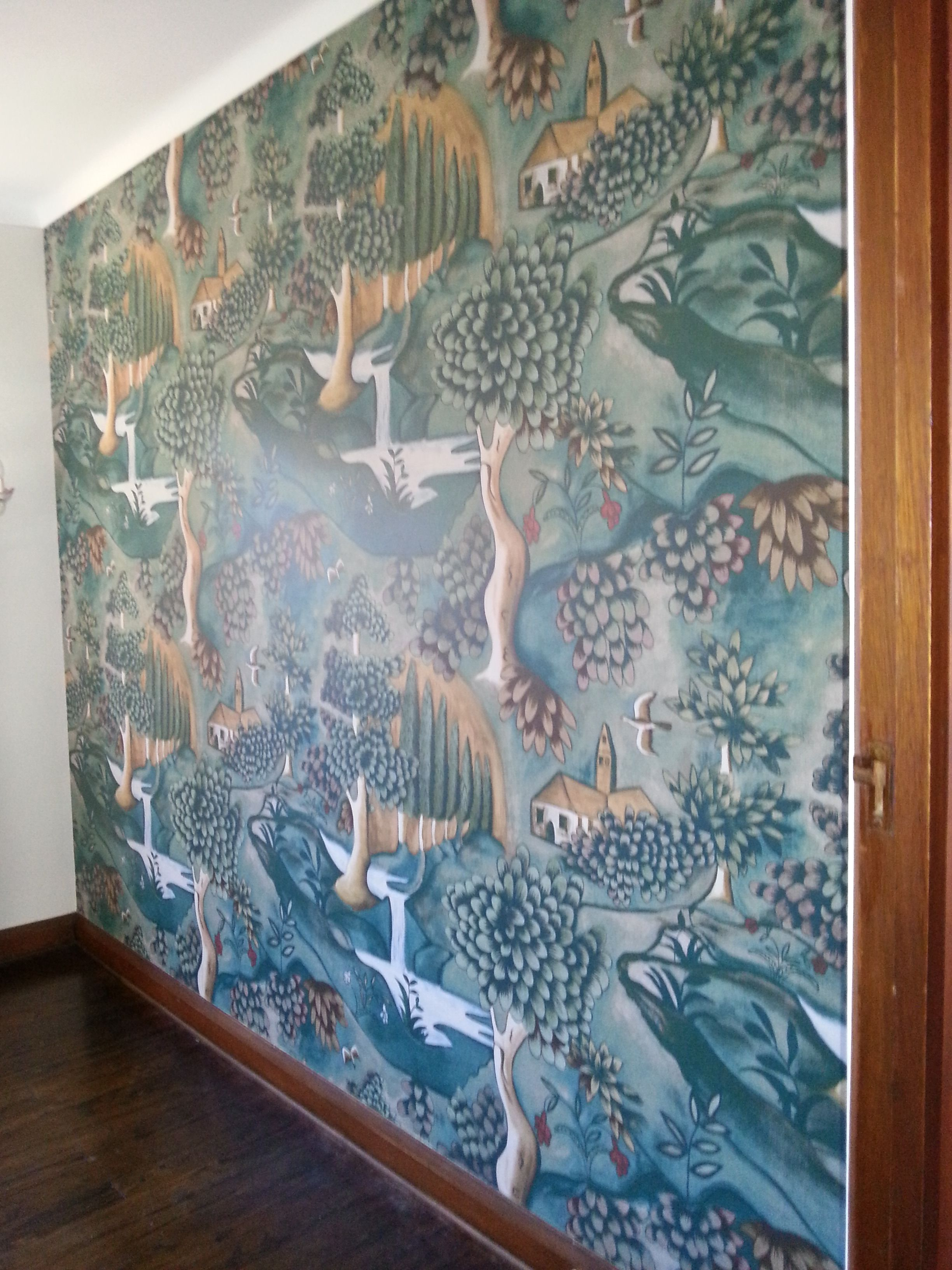 wall mural based on a late 17th century painted cloth stunning