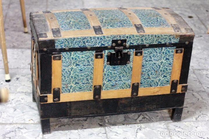 Antiguo Baul 71x50x36cm Vintage Antiguedades Muebles Antiguos - Baules-antiguos