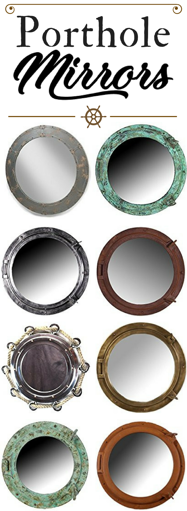 Photo of Porthole Themed Mirrors – Beachfront Decor