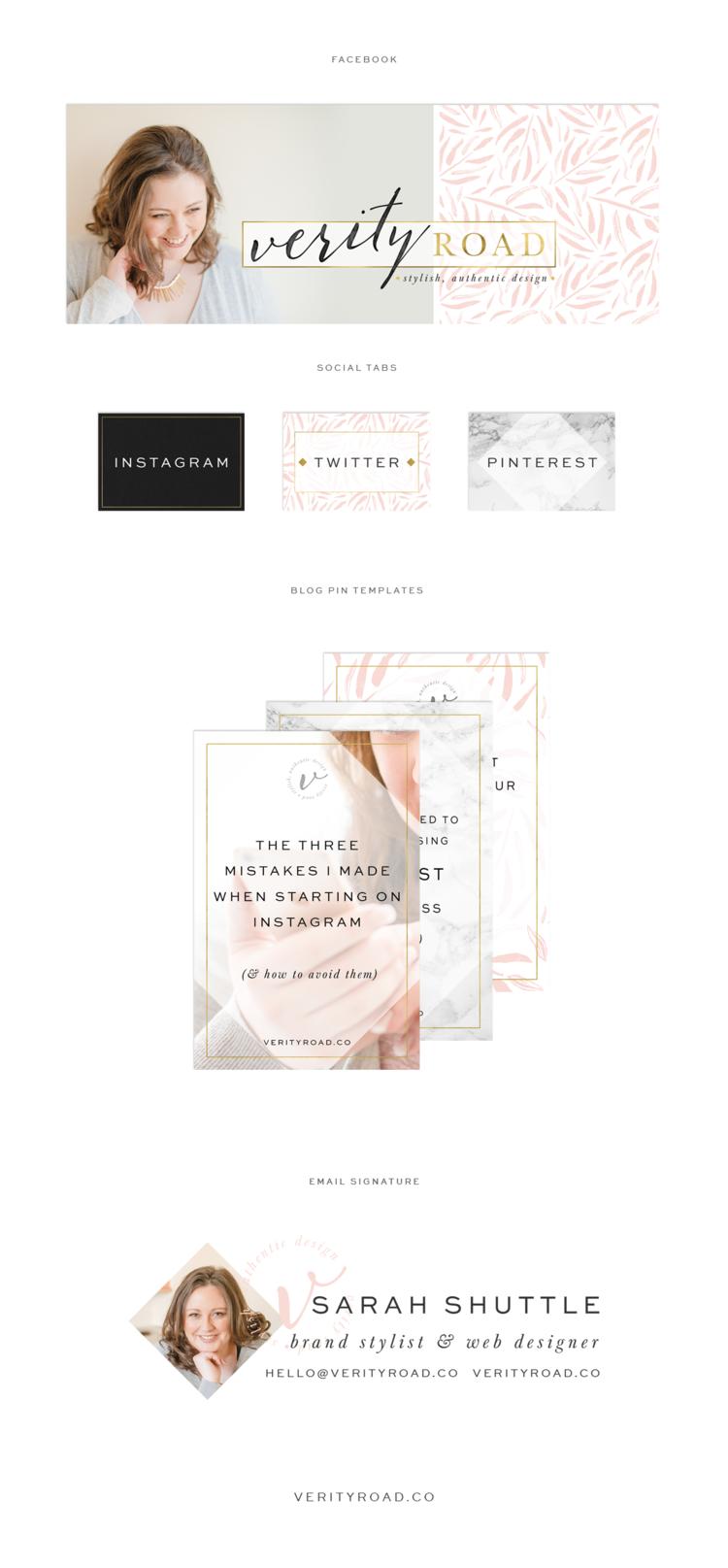 Brand Web Design Verity Road Luxury Branding For Female Entrepreneurs Web Design Business Branding Design Design
