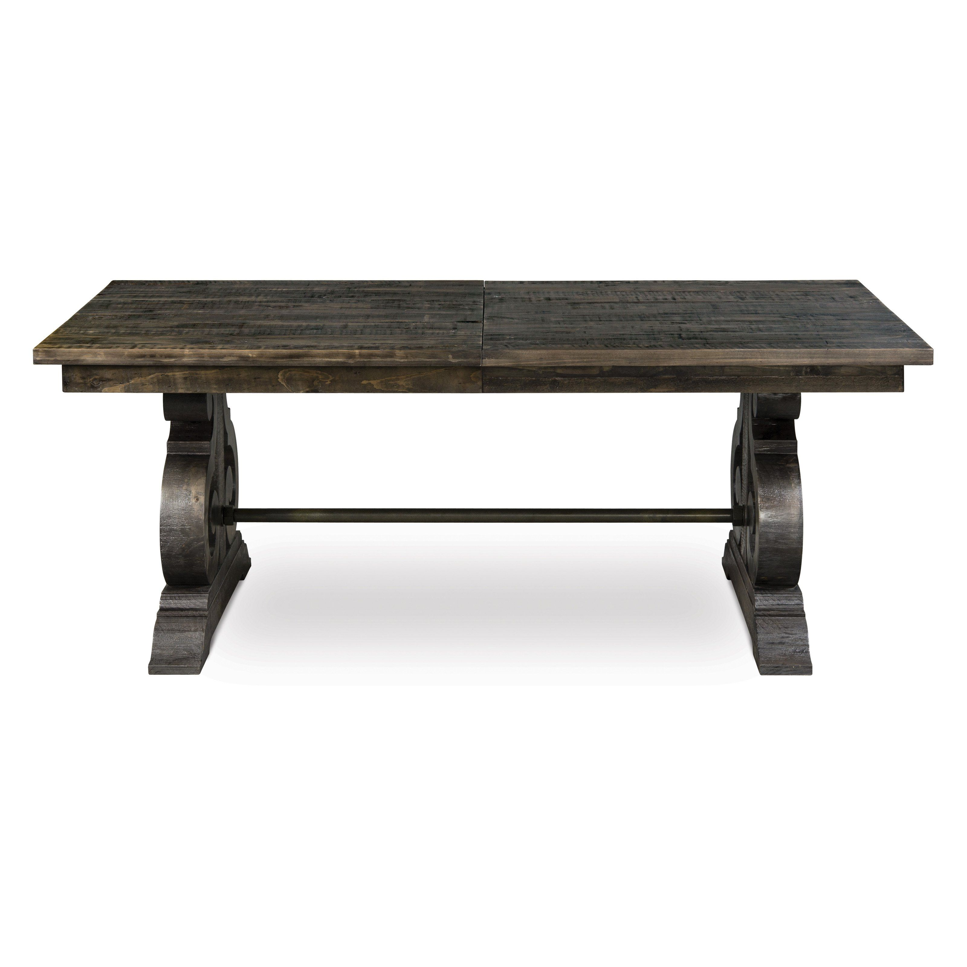 Magnussen Bellamy Wood Rectangular Dining Table Rustic and regal