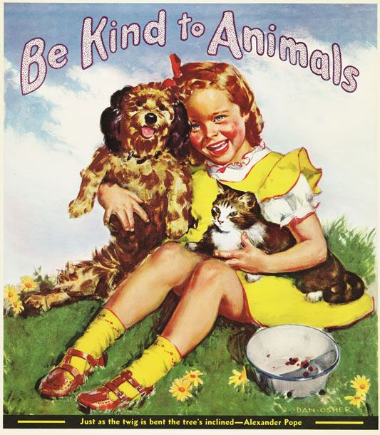 American Humane Association Initiated Be Kind To Animals Week And Launched A National Poster Contest For Children Animal Quotes Charity Poster Animal Stories