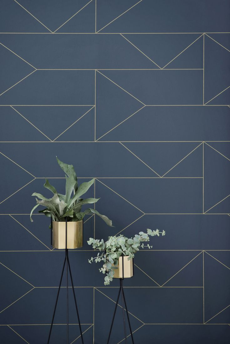 Photo of Lines wallpaper blue