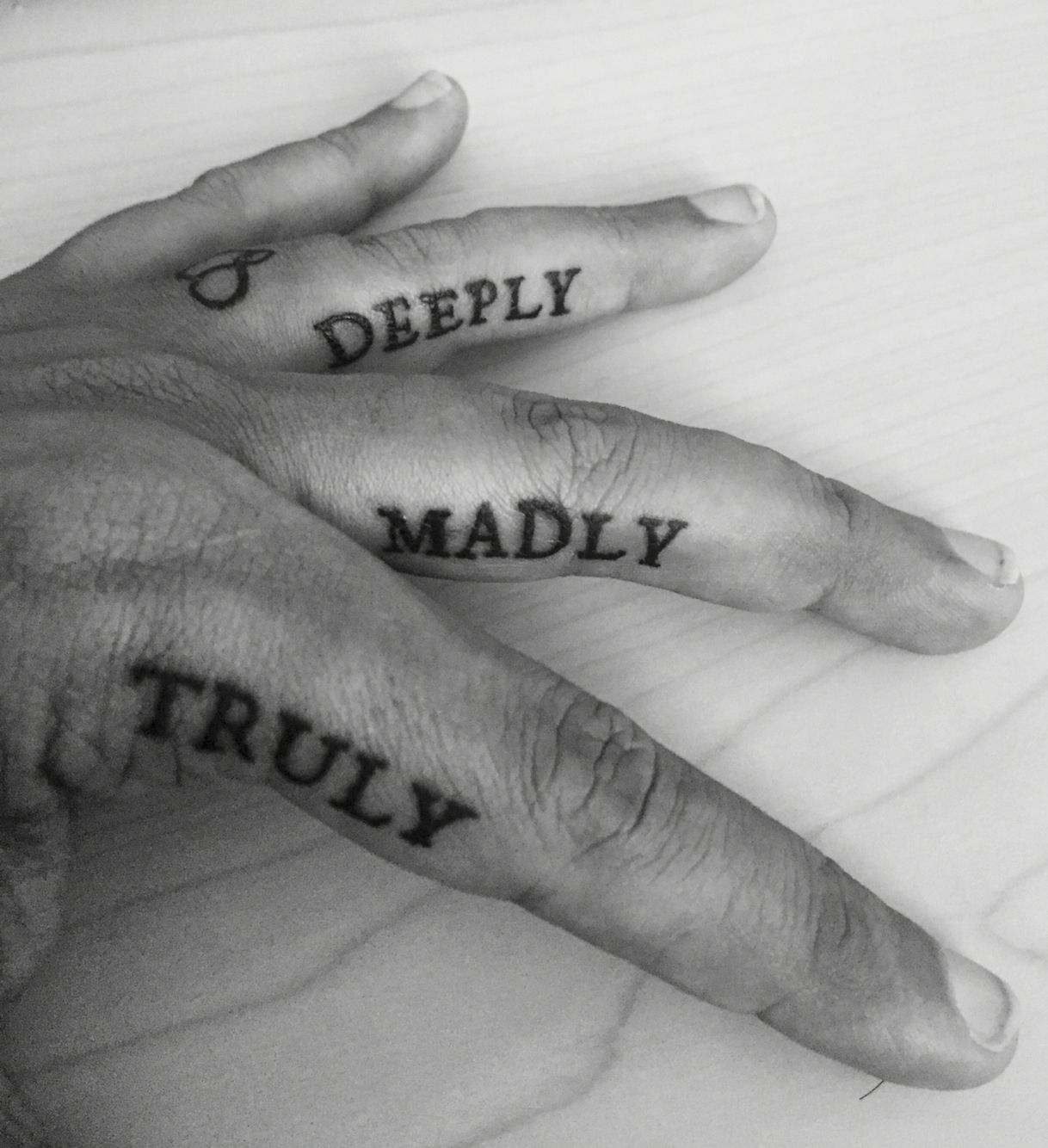 I Love You More Tattoos: My Polyamorous Wedding Tattoo. I Love You Truly, Madly