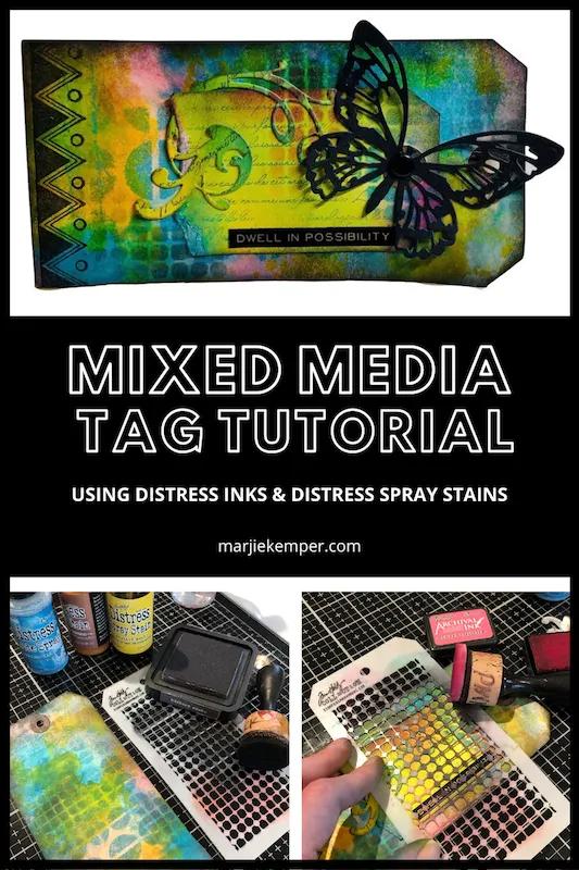 Mixed Media Tag Tutorial with Sizzix Diecuts • Marjie Kemper Designs