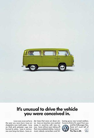 VW VAN: 60th anniversary  /  Images - Coloribus.com - Advertising Archive, creative ads gallery, commercials with download option