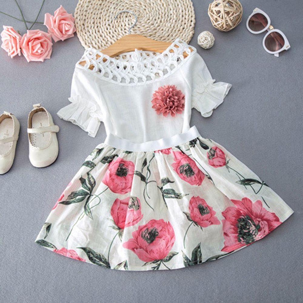 d5b8c0ab0 Details about Toddler Kids Baby Girls T-shirt Tops+Skirt Dress ...