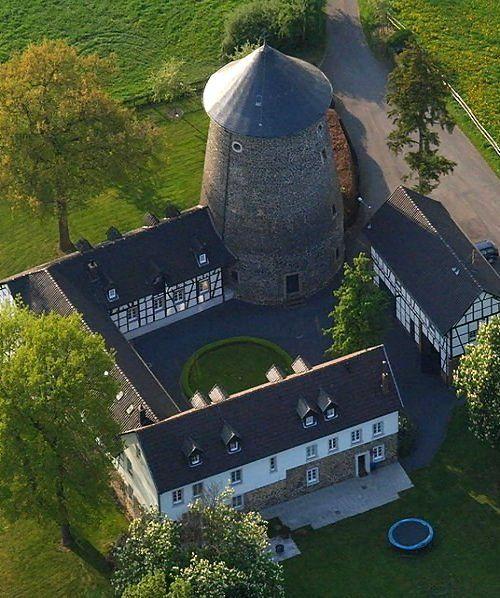 Windmill Tower (1680) of Villip - Wachtberg, North Rhine-Westphalia, Germany