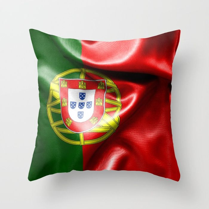 Portugal Flag Throw Pillow #s6gtp