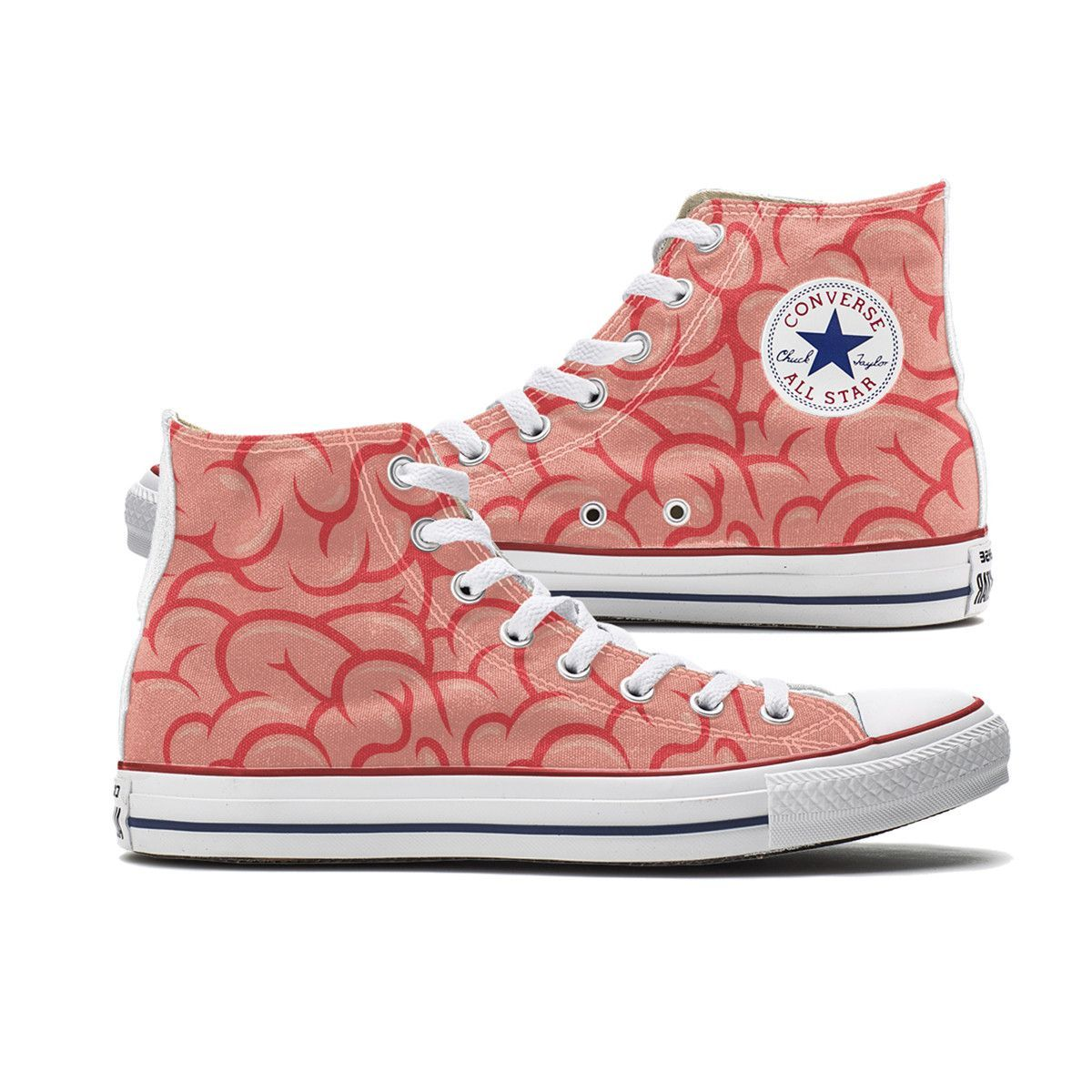 Custom Brains Converse High Tops will have you thinking on your toes ...