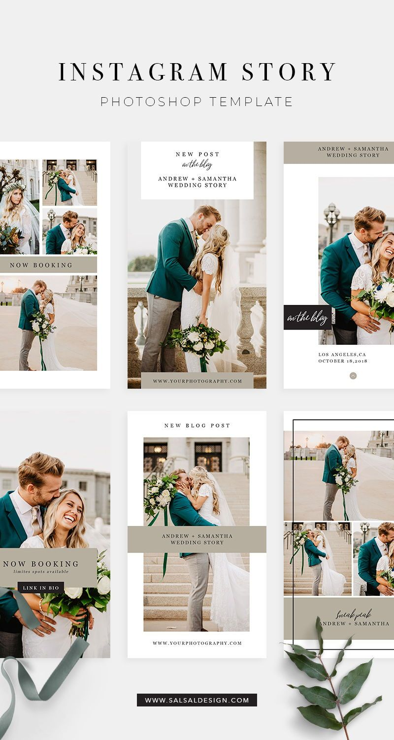 Wedding Instagram Story Templates For Photographers Photoshop Instagram Template For Pro Instagram Template Senior Photography Templates Mini Session Template