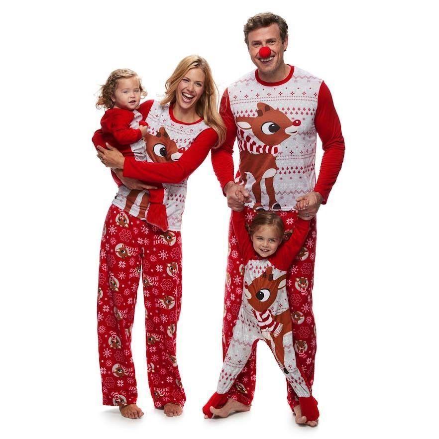 Fashion Adult Kids Christmas Pyjamas Family Matching Outfits Pajamas Cotton   pudcoco  Casual  pyjama 1b6e7c743