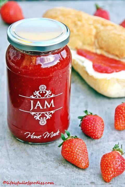 erdbeermarmelade mit mini schuss geschenke marmalade recipe jam jelly und marmalade. Black Bedroom Furniture Sets. Home Design Ideas