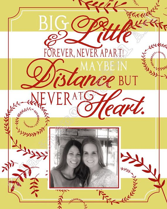 Big Little Sorority Sisters Gift Sisterhood Quote Photo ...