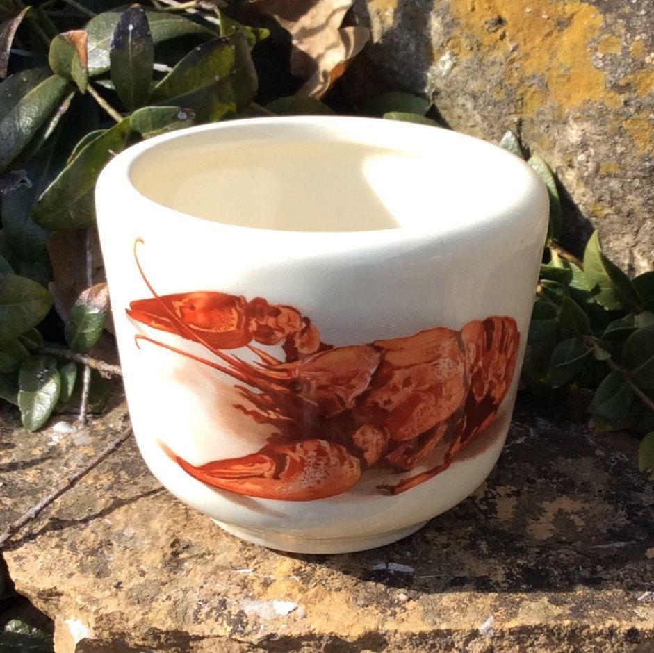 Vintage Pottery, Small, Souvenir Lobster Dish/Cup, Maine, Butter Bowl,.  Cottage Kitchen DecorCottage ...