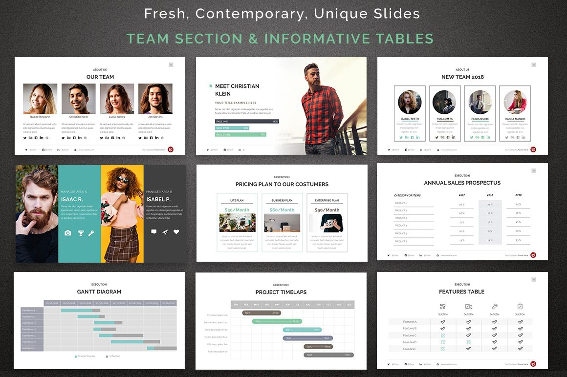 complete business powerpoint template  67622