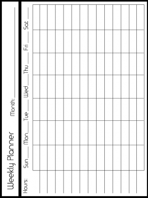 weekly planner calendar lots of space for booth sales imagens