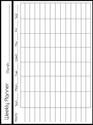 Free Customizable Weekly Planner Calendars Weekly Planner