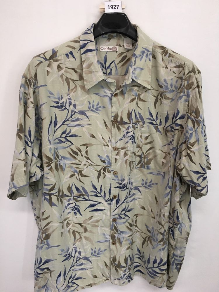 52abd5ad MENS 4XLT BIG & TALL CARIBBEAN HAWAIIAN SHIRT ALOHA FLORAL SILK CASUAL # CARIBBEAN #Hawaiian
