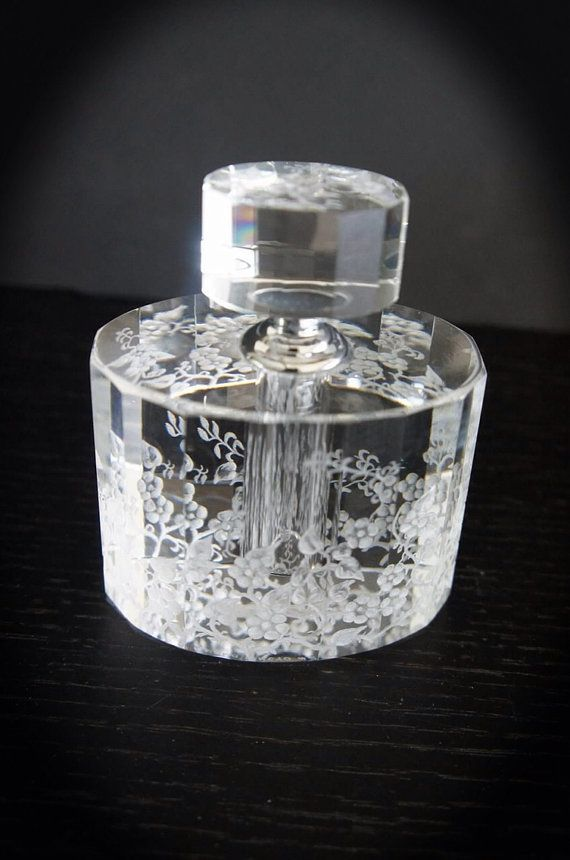 Art Deco Perfume Bottle Hand engraved