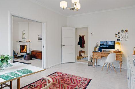 Binnenkijken in een appartementje in scandinavische stijl ...