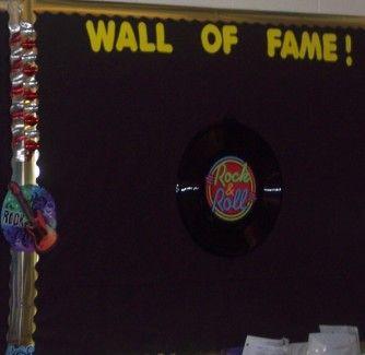 Bulletin board rock and roll!
